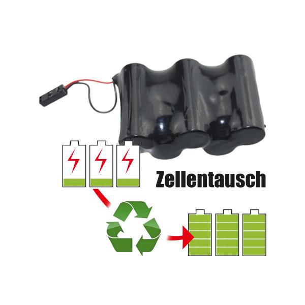 Akkureparatur - Zellentausch kompatibel für Heine Endoskop Kamera 6,0V   2,7Ah / 16,2Wh