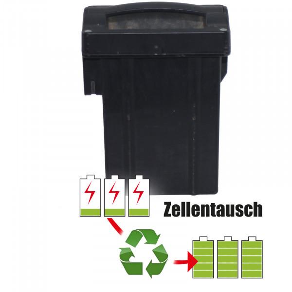 Akkureparatur - Zellentausch kompatibel für Wolf Garten Rasenmäher (9199 / F057785) mit 3 x 36 Volt von 7,8Ah/280,8Wh
