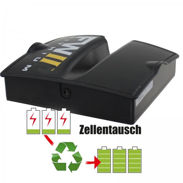 Akkureparatur - Zellentausch kompatibel für BMZ Golf-Trolley 14,4V von 20,8Ah / 300Wh bis 24,0Ah / 346Wh