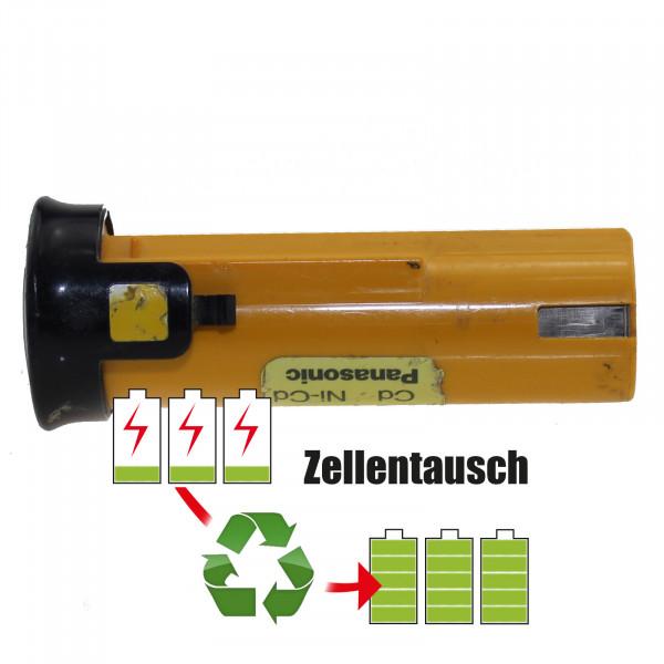 Akkureparatur - Zellentausch kompatibel für Panasonic Akku 2,4V von 1500mAh bis 3000mAh NICD/NIMH