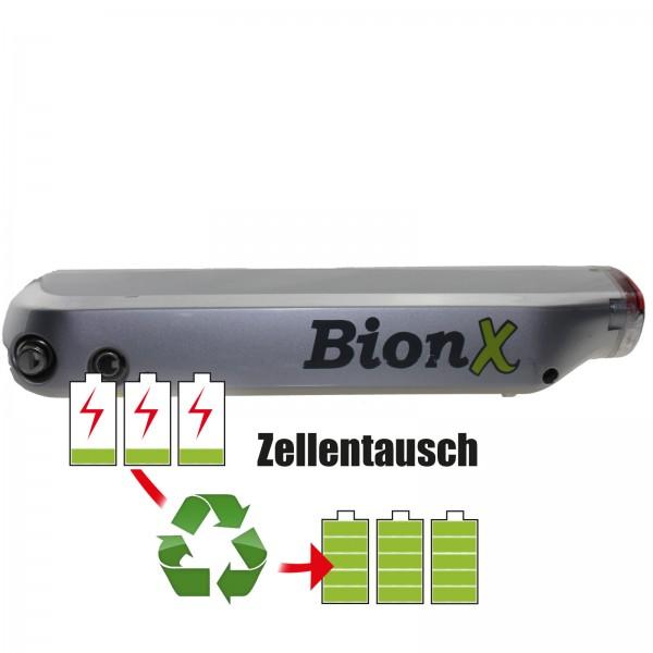 Akkureparatur - Zellentausch kompatibel für BionX E-Bike Akku 36V von 10,4Ah/375Wh bis 12,0Ah/432Wh Gepäckträger Version
