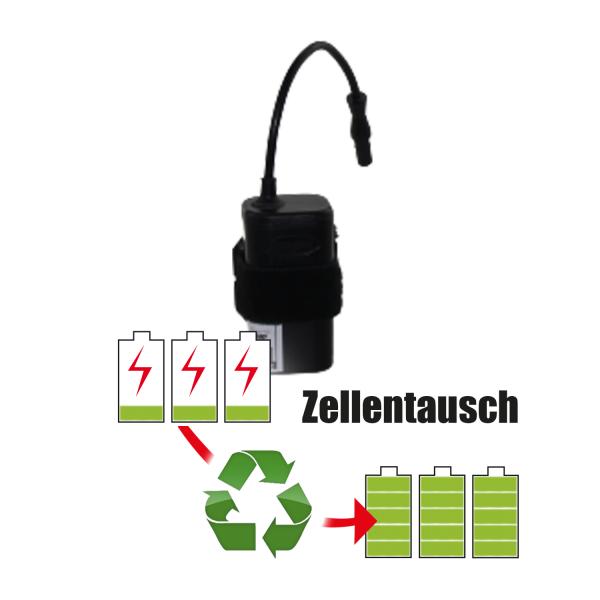 Akkureparatur - Zellentausch kompatibel für Hope Geräte 7,2V von 5,2Ah / 37Wh bis 6,0Ah / 43Wh