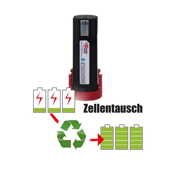 Akkureparatur - Zellentausch kompatibel für Würth Geräte 2,4V von 1,5Ah / 4Wh bis 3,0Ah / 7Wh