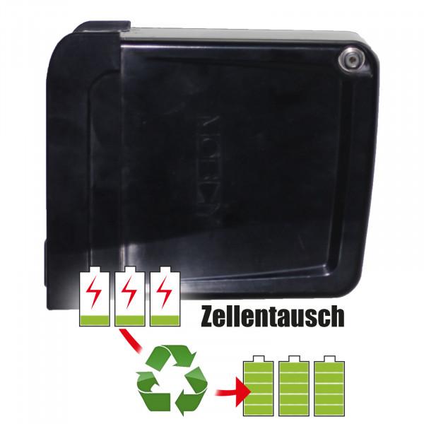 Akkureparatur - Zellentausch kompatibel für Mobiky Golf-Caddy 24,0V von 14,5Ah / 348Wh bis 17,3Ah / 414Wh