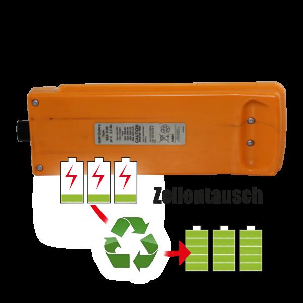 Akkureparatur - Zellentausch kompatibel für Arjo Patientenlift 24,0V | 3,0Ah / 72Wh
