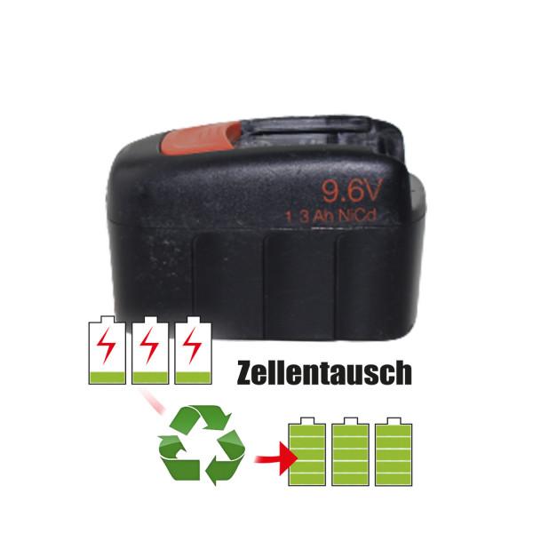 Akkureparatur - Zellentausch kompatibel für Fein Geräte 9,6V von 1,4Ah / 13Wh bis 1,7Ah / 16Wh