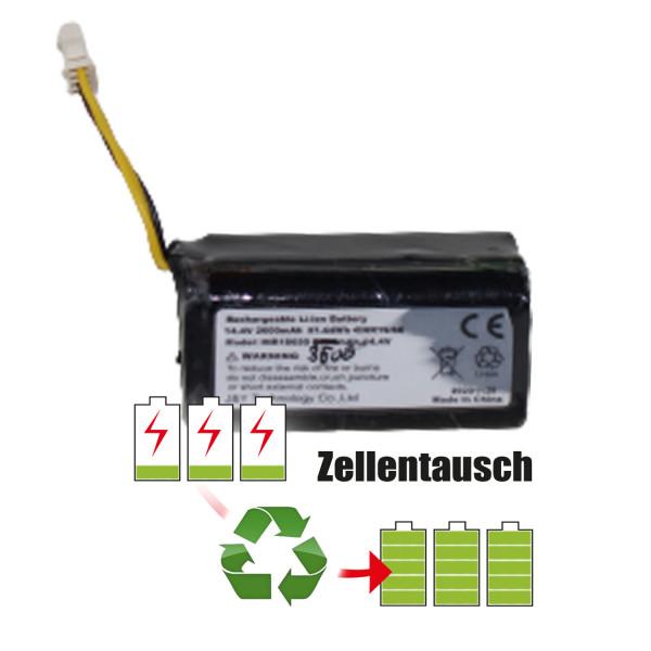 Akkureparatur - Zellentausch kompatibel für Deebot Staubsaugerroboter 14,4V von 2,6Ah / 37Wh bis 3,5Ah / 50Wh