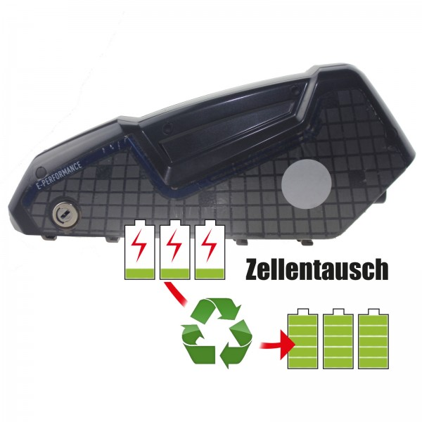 Akkureparatur - Zellentausch kompatibel für BMZ E-Bike 36,0V von 14,5Ah / 522Wh bis 17,3Ah / 621Wh
