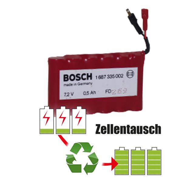 Akkureparatur - Zellentausch kompatibel für Bosch Zündungstester 7,2V | 2,0Ah / 14,4Wh
