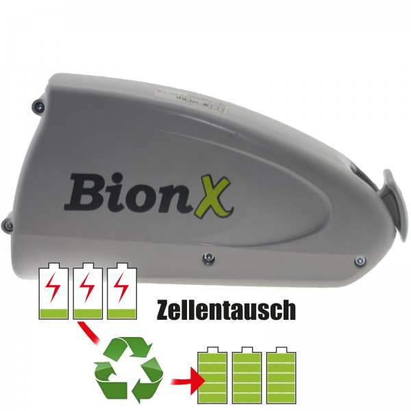 Akkureparatur - Zellentausch kompatibel für BionX E-Bike Akku 26V von 15,6Ah/406Wh bis 18,0Ah/468Wh Rahmen-Version
