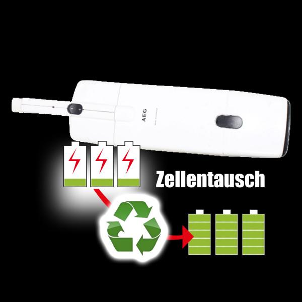Akkureparatur - Zellentausch kompatibel für AEG Geräte 4,8V von 2,0Ah / 10Wh bis 3,0Ah / 14Wh