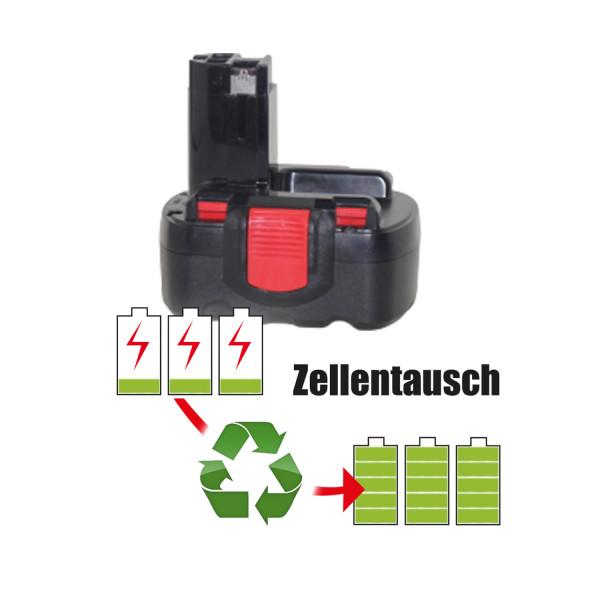 Akkureparatur - Zellentausch kompatibel für Bosch Geräte 14,4V   2,0Ah / 28,8Wh