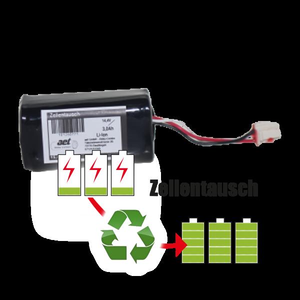 Akkureparatur - Zellentausch kompatibel für 360 Robot Vacuum Cleaner Staubsaugerroboter 14,4V | 3,0Ah / 43,2Wh