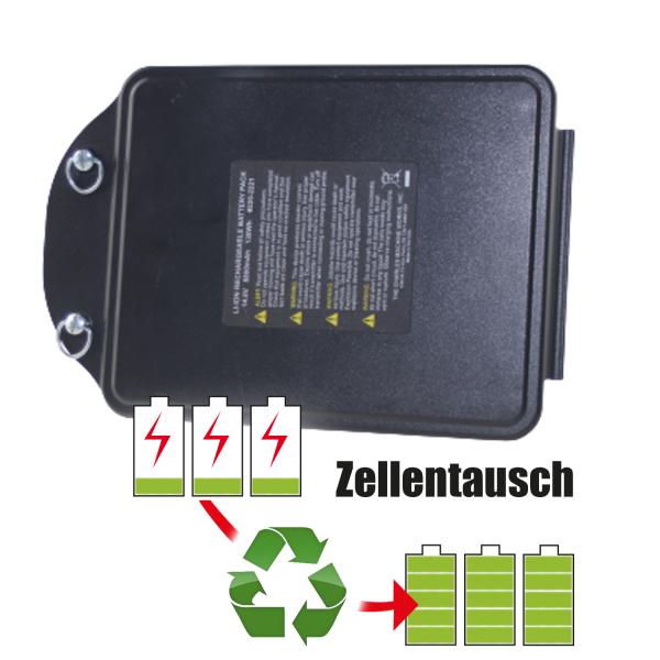 Akkureparatur - Zellentausch kompatibel für The Charles Machine Works Geräte 14,4V von 11,6Ah / 167Wh bis 13,8Ah / 199Wh