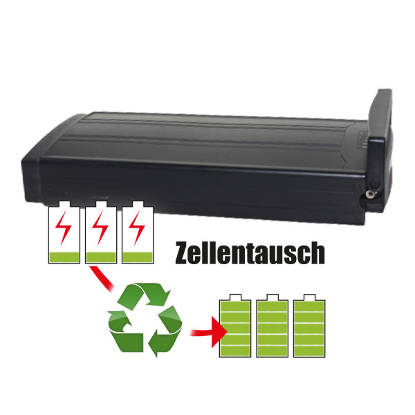 Akkureparatur - Zellentausch kompatibel für NoName Ebike 24,0V | 9,6Ah / 230,4Wh