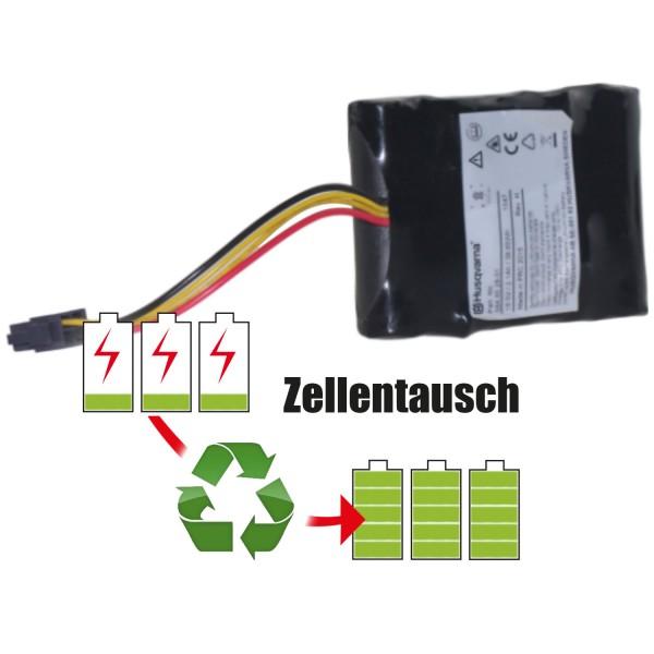 Akkureparatur - Zellentausch kompatibel für Husqvarna Rasenroboter 18,0V von 2,6Ah / 47Wh bis 3,0Ah / 54Wh
