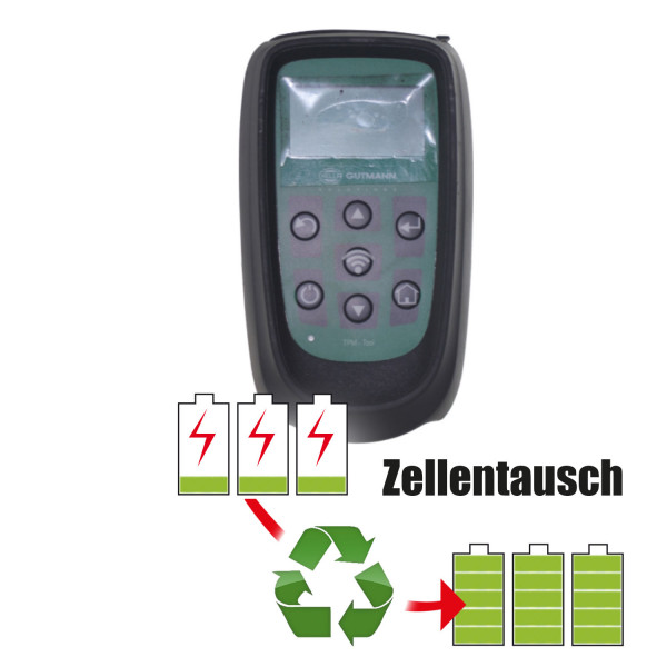 Akkureparatur - Zellentausch kompatibel für Hella Gutmann RDKS (Reifendruckkontrollsystem) Tester 3,6V | 3,0Ah / 10,8Wh