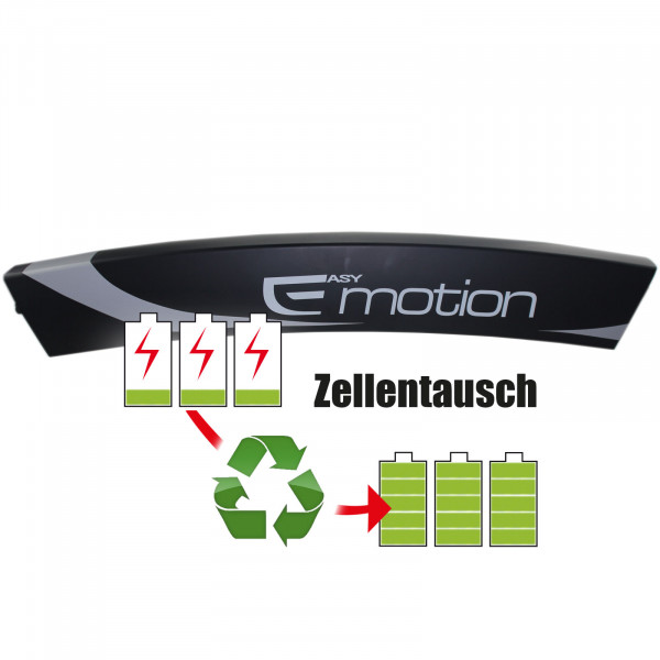 Akkureparatur - Zellentausch kompatibel für BH Easy Motion E-Bike 36,0V von 10,4Ah / 374Wh bis 13,8Ah / 497Wh