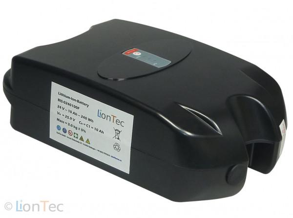 Fahrradbatterie 24 V (26 V) - 10 Ah Frog-Type