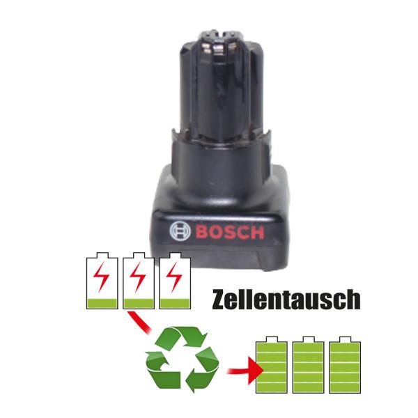 Akkureparatur - Zellentausch kompatibel für Bosch Geräte 12,0V von 5,1Ah / 61Wh bis 6,0Ah / 72Wh