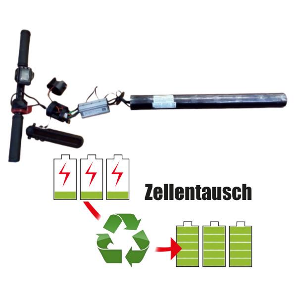 Akkureparatur - Zellentausch kompatibel für Shenzhen Feile Gaoke Co. LTD E-Scooter 25,2V von 5,2Ah / 131Wh bis 6,0Ah / 151Wh