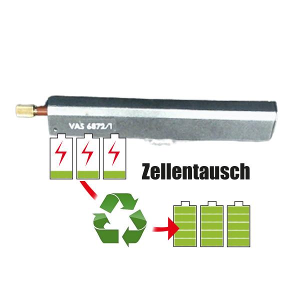 Akkureparatur - Zellentausch kompatibel für VW Instandsetzungsgerät Werkzeug 2,4V   4,5Ah / 10,8Wh