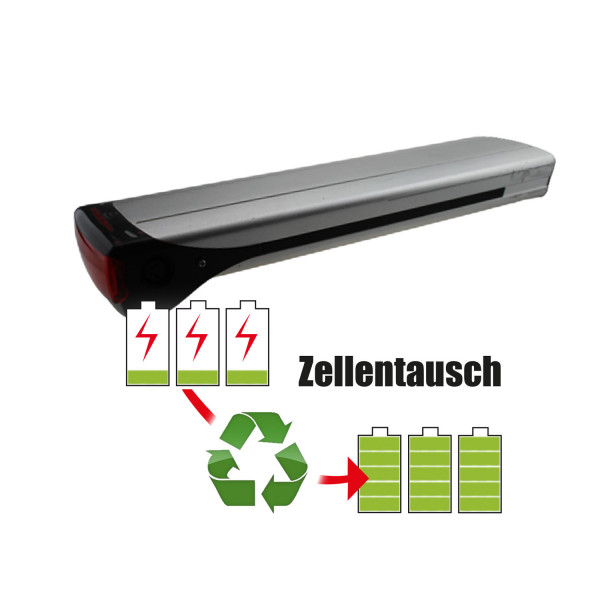 Akkureparatur - Zellentausch kompatibel für MC MultiCycle E-Bike 32,4V von 12,8Ah / 413Wh bis 17,3Ah / 559Wh