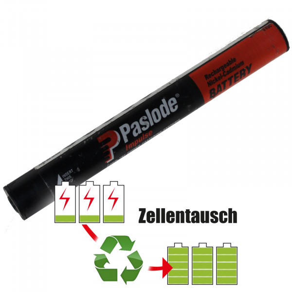Akkureparatur - Zellentausch kompatibel für Paslode Akku 6,0V / 2000mAh NIMH