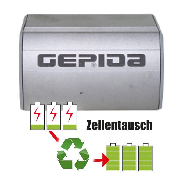 Akkureparatur - Zellentausch kompatibel für Gepida Ebike 36,0V von 7,7Ah / 275Wh bis 10,4Ah / 373Wh