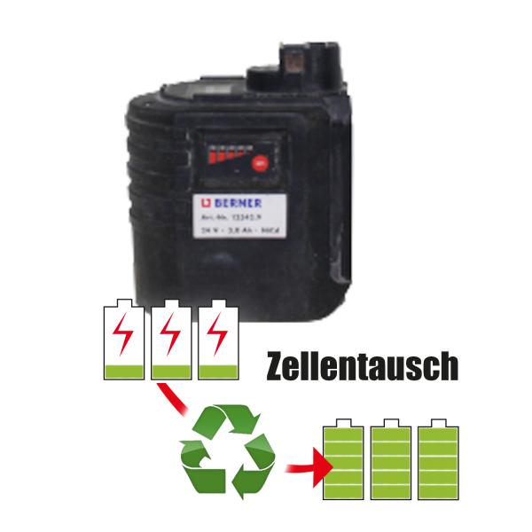 Akkureparatur - Zellentausch kompatibel für Berner Geräte 24,0V | 3,0Ah / 72Wh