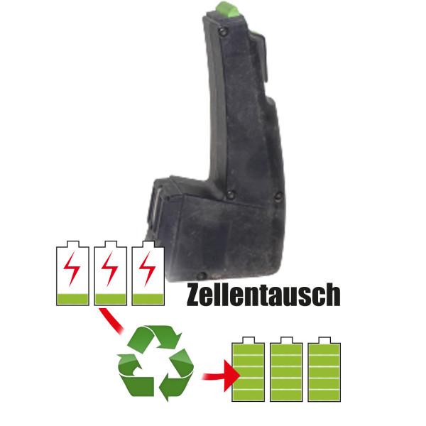 Akkureparatur - Zellentausch kompatibel für Festool Werkzeug 12,0V von 2,0Ah / 24Wh bis 3,0Ah / 36Wh