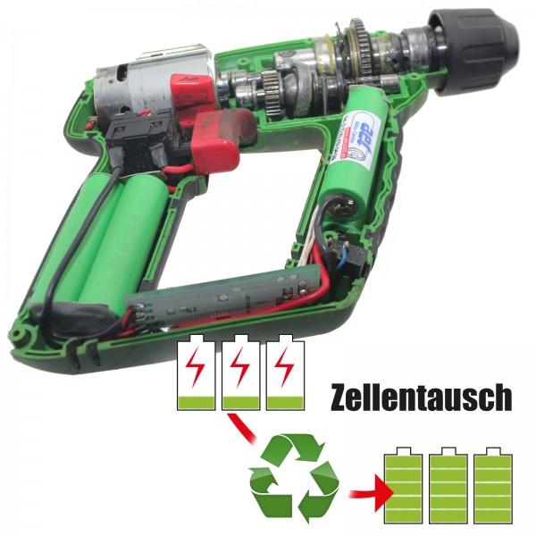 Akkureparatur - Zellentausch kompatibel für Manesmann 14,4V von 2,6Ah/38Wh bis 3,0Ah/44Wh