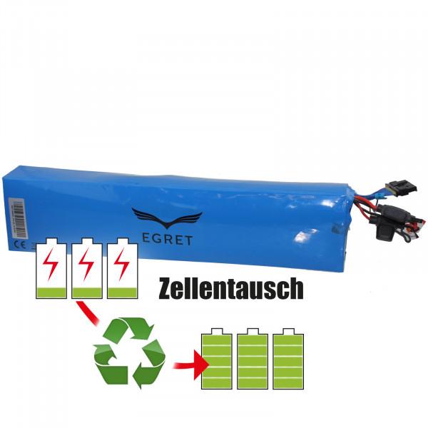 Akkureparatur - Zellentausch kompatibel für Egret Roller 36,0V von 15,6Ah / 562Wh bis 20,7Ah / 745Wh