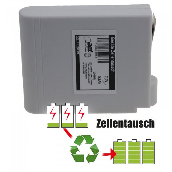 Akkureparatur - Zellentausch kompatibel für Point Dry Heizdecke (KXD252P4,4Ah-VP) mit 7,2 Volt von 5,8Ah/41,76Wh bis 6,9Ah/49,68Wh