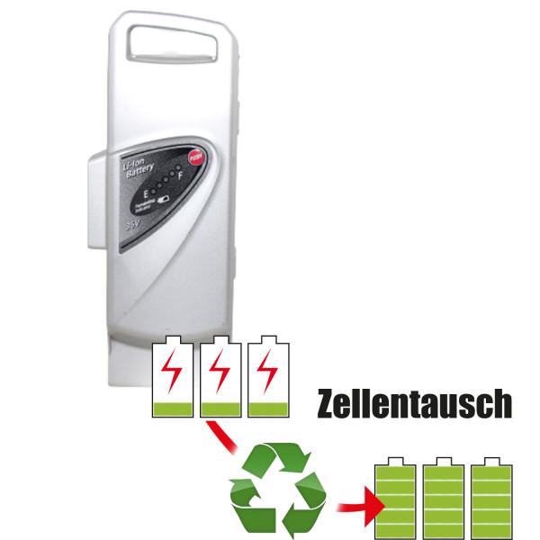 Akkureparatur - Zellentausch kompatibel für Panasonic E-Bike 36,0V von 10,2Ah / 367Wh bis 13,8Ah / 497Wh