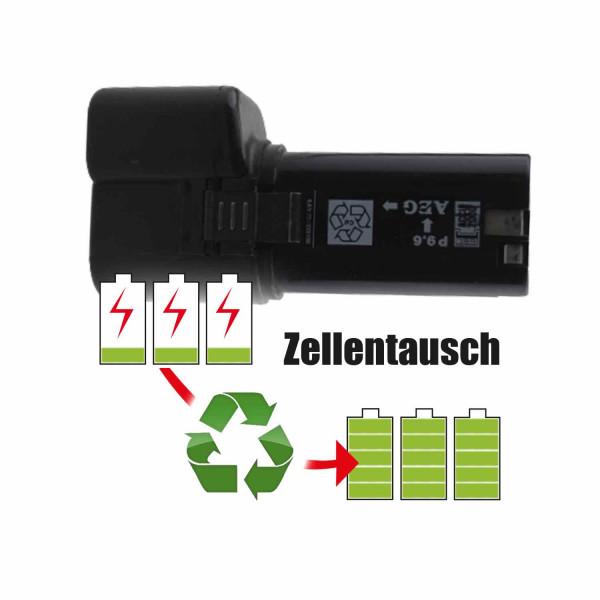 Akkureparatur - Zellentausch kompatibel für AEG Geräte 9,6V von 1,5Ah / 14Wh bis 2,0Ah / 19Wh