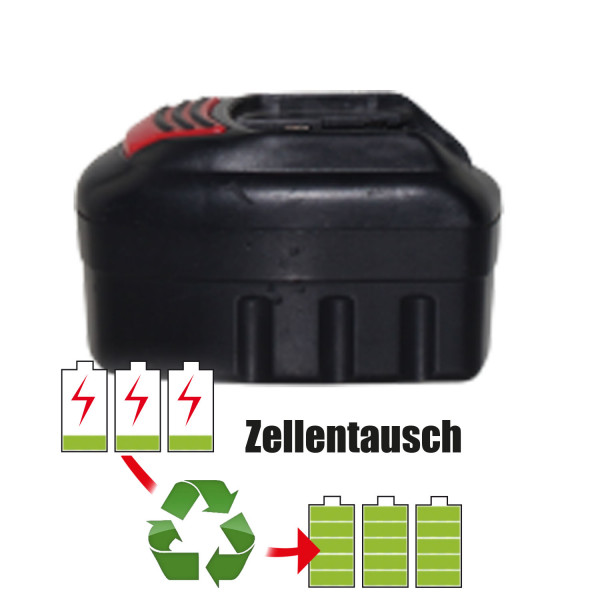 Akkureparatur - Zellentausch kompatibel für Würth Geräte 9,6V   2,0Ah / 19,2Wh