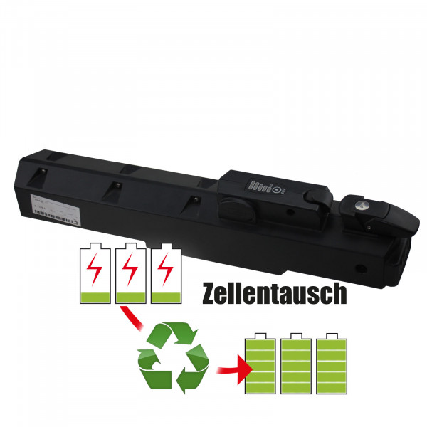 Akkureparatur - Zellentausch kompatibel für Panterra E-Bike 37,0V von 11,6Ah / 429Wh bis 13,8Ah / 511Wh
