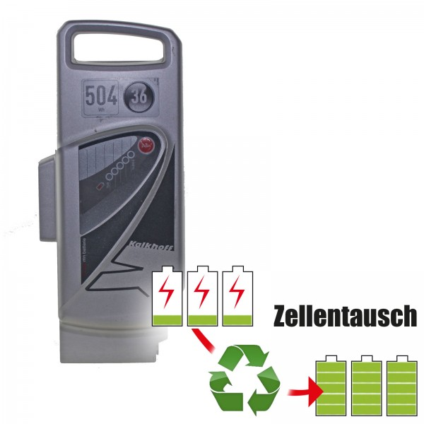 Akkureparatur - Zellentausch kompatibel für Panasonic Derby Cycle E-Bike Akku 36V von 18,2Ah/655Wh bis 24,15Ah/870Wh