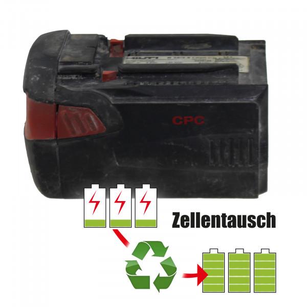Akkureparatur - Zellentausch kompatibel für HILTI B36/3,9 LiION Akku 36,0 Volt Akku von 7,8Ah bis 9,36Ah/
