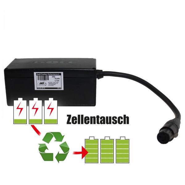 Akkureparatur - Zellentausch kompatibel für Golf Trolley Golf Trolley 25,0V von 7,8Ah / 195Wh bis 8,7Ah / 218Wh