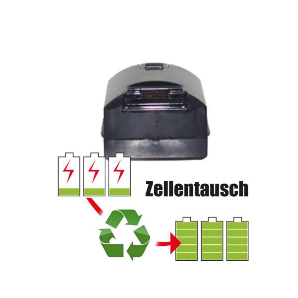 Akkureparatur - Zellentausch kompatibel für Moosoo Geräte 29,6V von 2,6Ah / 75Wh bis 3,5Ah / 102Wh