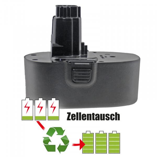 Akkureparatur - Zellentausch kompatibel für Black&Decker Akku 18,0V von 1500mAh bis 3000mAh NICD/NIMH