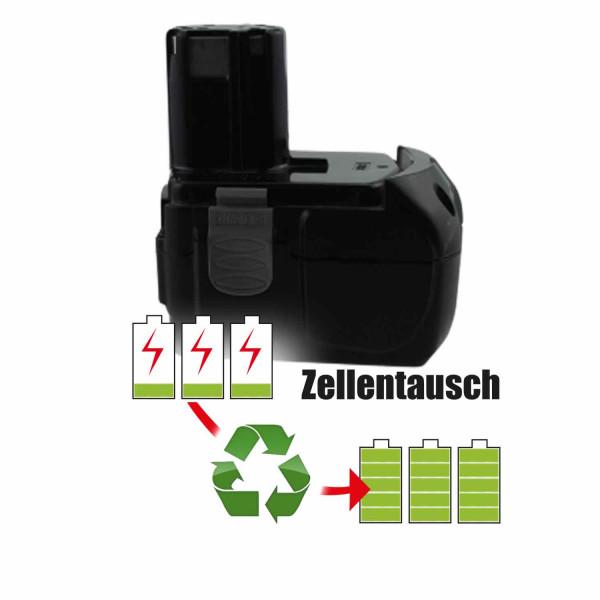 Akkureparatur - Zellentausch kompatibel für Hitachi Geräte 18,0V von 2,6Ah / 47Wh bis 3,5Ah / 62Wh