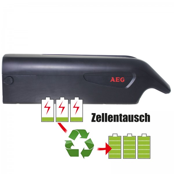 Akkureparatur - Zellentausch kompatibel für AEG E-Bike 36,0V von 11,6Ah / 418Wh bis 17,3Ah / 621Wh