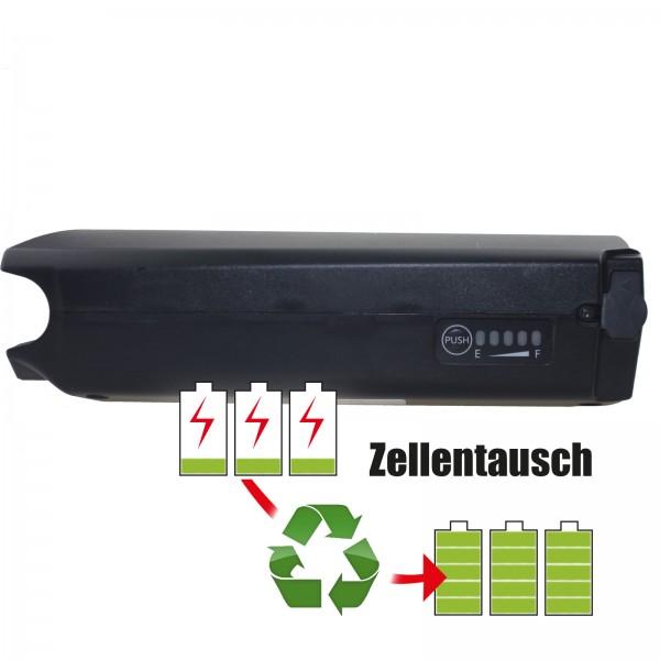 Akkureparatur - Zellentausch kompatibel für Panasonic (KTM & Flyer) E-Bike Akku 46,8V - 10,4Ah/487Wh bis 13,8Ah/646Wh Gepäckträger-Version