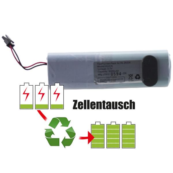 Akkureparatur - Zellentausch kompatibel für AccuLux Geräte 3,7V von 5,1Ah / 19Wh bis 6,9Ah / 26Wh