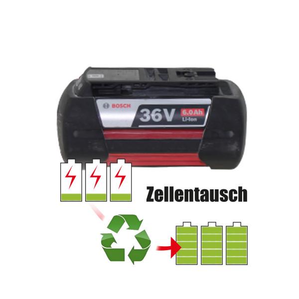 Akkureparatur - Zellentausch kompatibel für Bosch Geräte 36,0V von 6,0Ah / 216Wh bis 6,9Ah / 248Wh