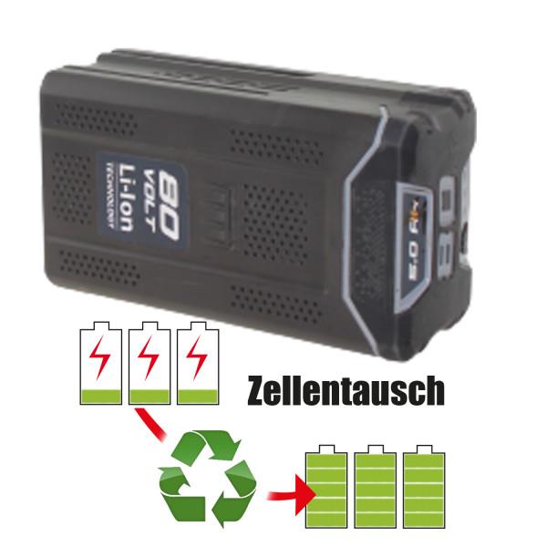 Akkureparatur - Zellentausch kompatibel für GGP Italy SPA Rasenmäher 72,0V von 5,1Ah / 367Wh bis 6,0Ah / 432Wh
