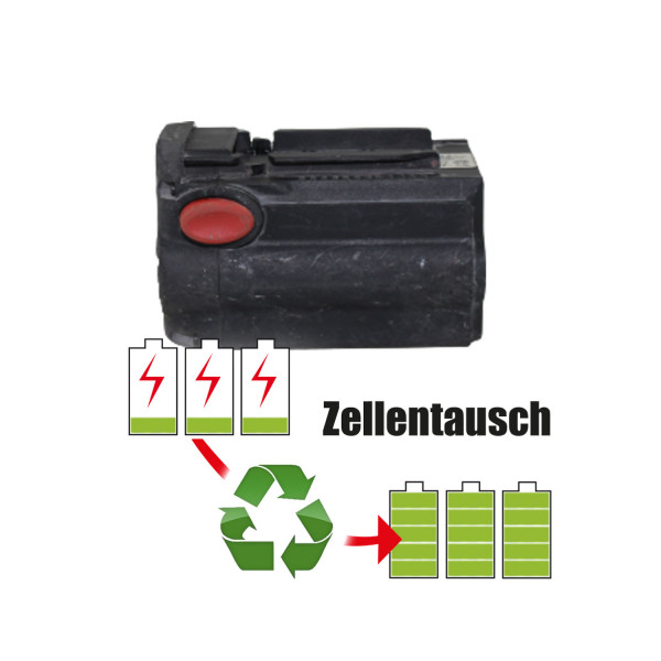 Akkureparatur - Zellentausch kompatibel für Hilti Geräte 36,0V von 2,0Ah / 72Wh bis 2,5Ah / 90Wh